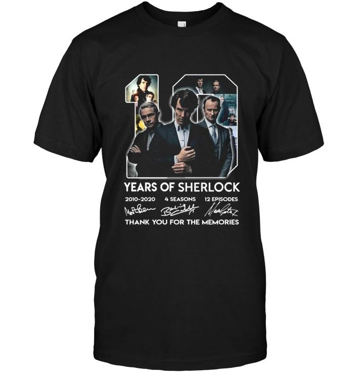 10 Years Of Sherlock Holmes Thank You For The Memories Shirt