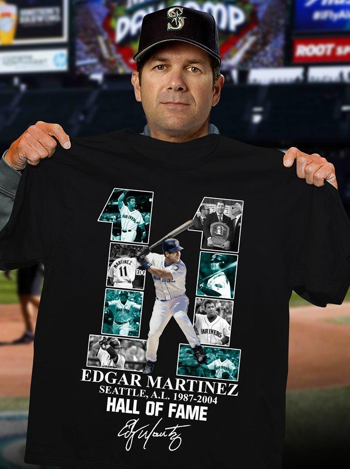 11 Edgar Martinez Seattle Al 1987 2004 Hall Of Fame Shirt