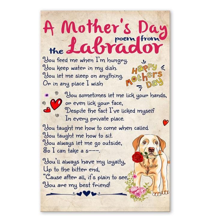 A Mothers Day Poem From Labrador Poster