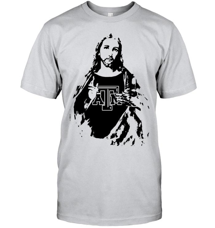 Texas A&m Aggies Jesus Ripped Shirt