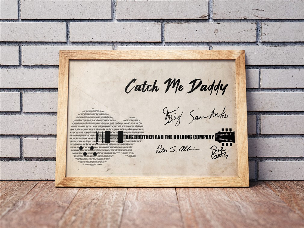 Big Brother And The Holding Company - Catch Me Daddy Poster Canvas