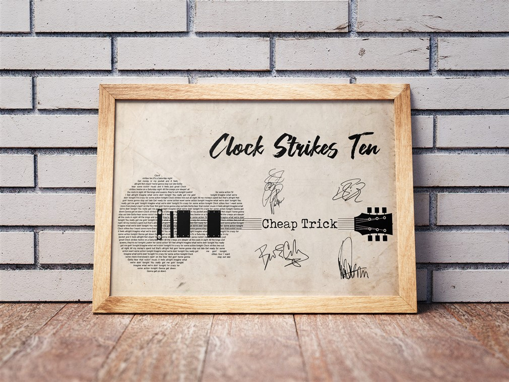 Cheap Trick - Clock Strikes Ten Poster Canvas