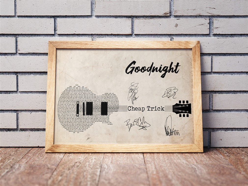Cheap Trick - Goodnight Poster Canvas
