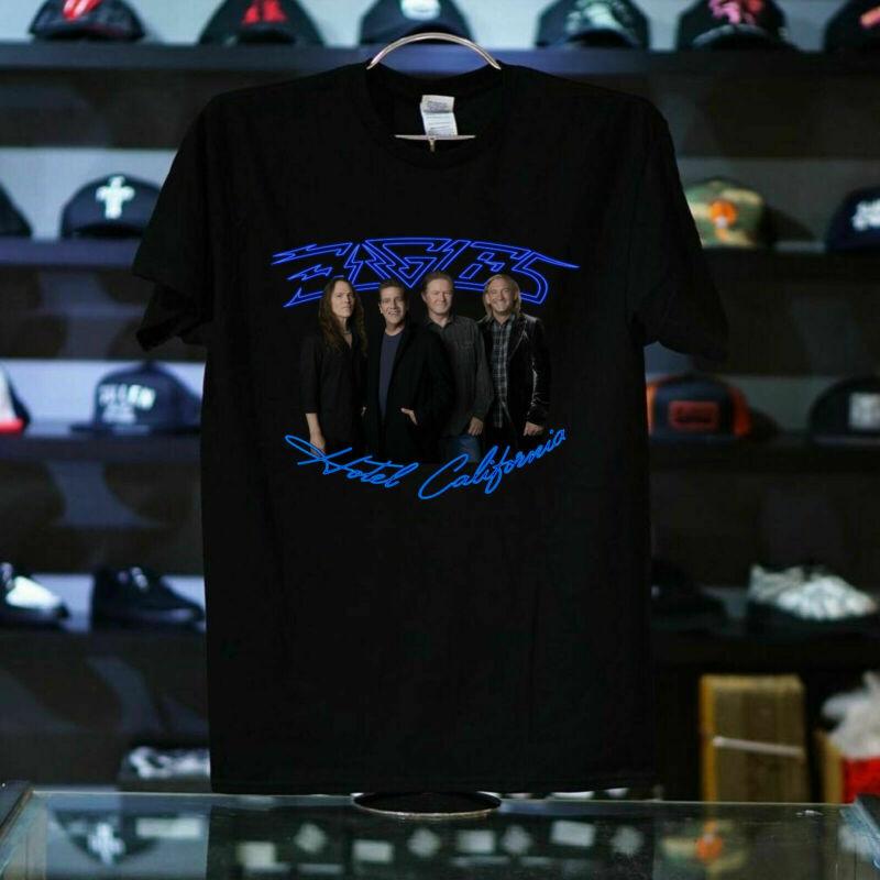 Eagles Hotel California Tour Dates 2020 T-Shirt 100% Cotton New black