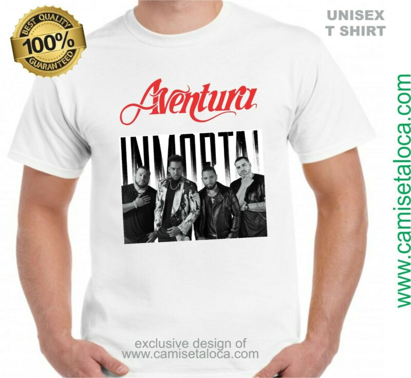 Aventura - Inmortal T Shirt - Tour 2020 Grupo Aventu (white Color - M Size )