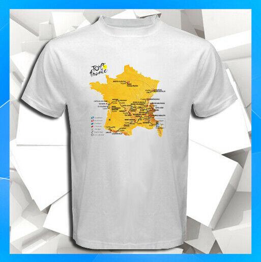 2020 Tour de France 107 Edition Route Map Stage White T-Shirt S M L XL 2XL 3XL