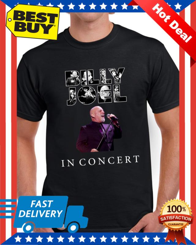 Billy Joel t Shirt In Concert Tour 2019- 2020 T-Shirt Regular Size Black M - 3XL