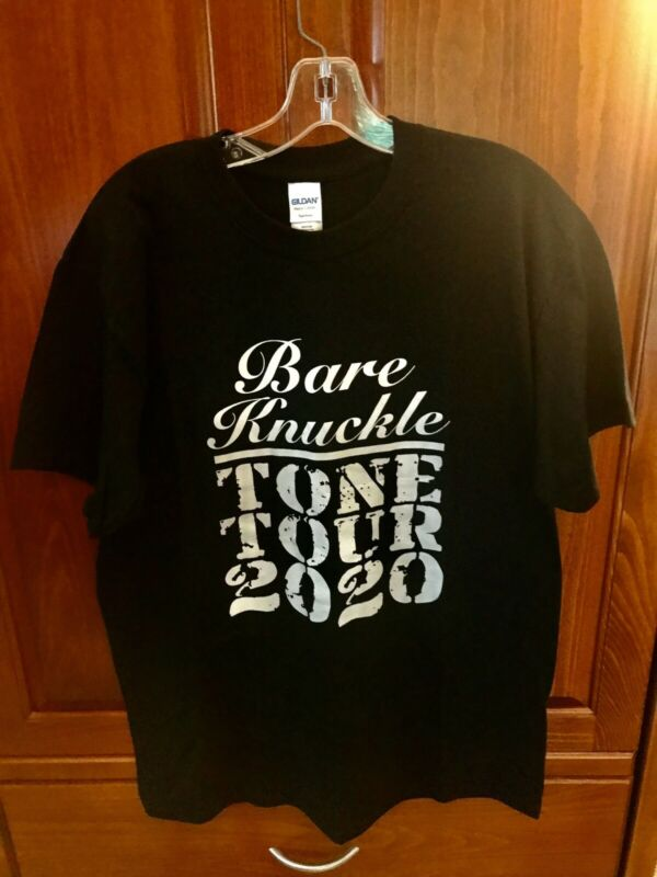 Bare Knuckle Pickups Mens T Shirt Large In Black With Logo ?tone Tour 2020? New