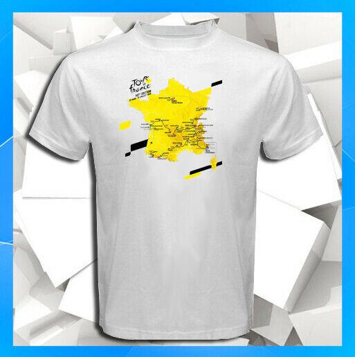2020 Tour de France 107 Edition Stage Route Map White T-Shirt S M L XL 2XL 3XL