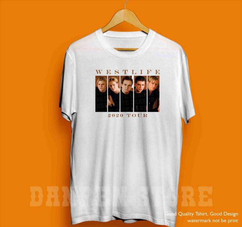 1Westlife2020 Retro Vintage T-shirt Concert Tour Music Band Famous Unisex Shirt