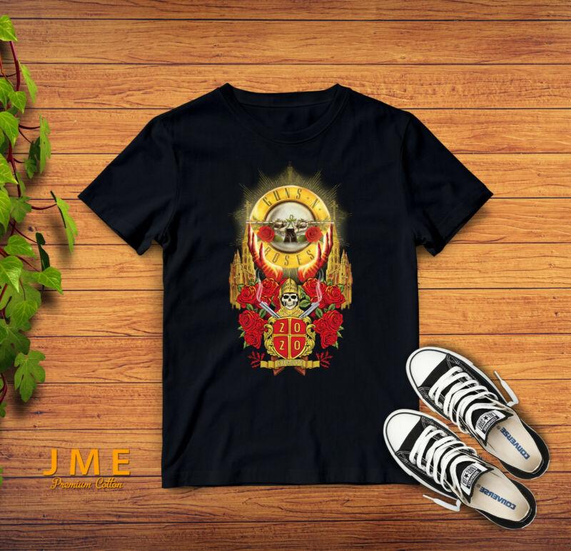 "Guns N Roses "" Europe "" 2020 World Tour New T-Shirt Gildan Soft Black S-2XL"