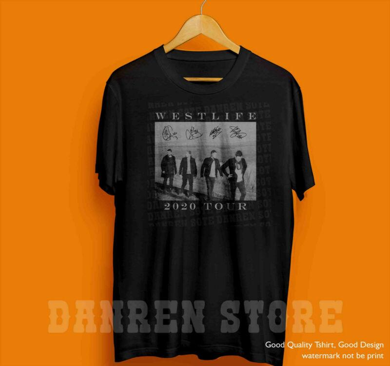 2Westlife2020 Retro Vintage T-shirt Concert Tour Music Band Famous Unisex Shirt