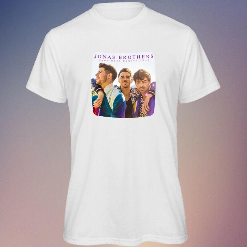 Mens Jonas Brothers Happiness Begins Tour 2020 Music WHITE T Shirt