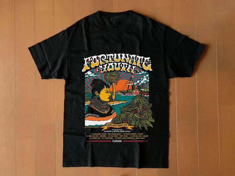 fortunate youth life tour 2020 florida gildan black new t shirt