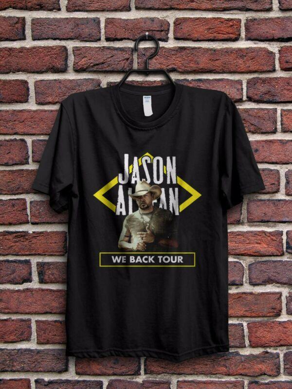 Jason Aldean We Back Tour 2020 Mens T Shirt Gildan Size S to XL