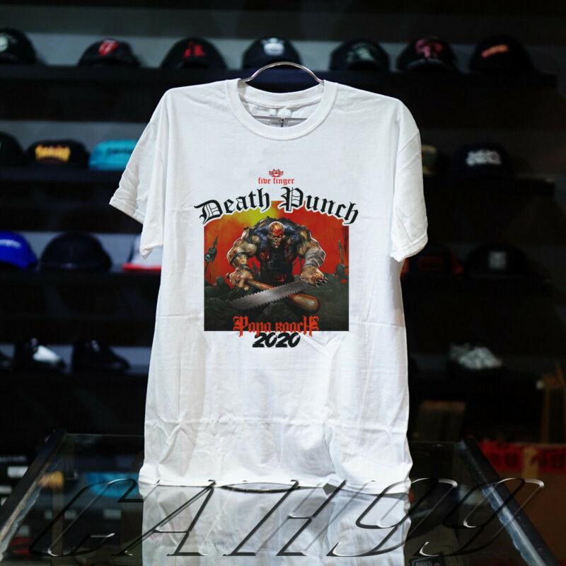Five Finger Death Punch Tour Shirt Concert Dates 2020 Black-White T-Shirt