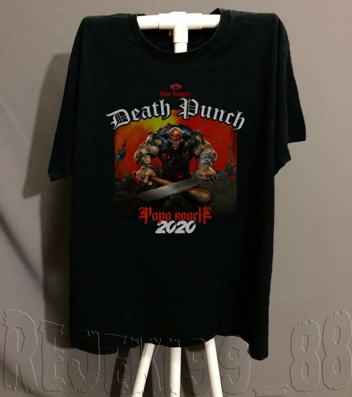 FFDP Five Finger Death Punch Tour Shirt Concert 2020 Black-White T-SHIRT