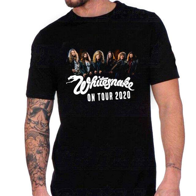 Whitesnake Band Tour 2020 Tshirt New Men T-Shirt Tee Size S to 3XL