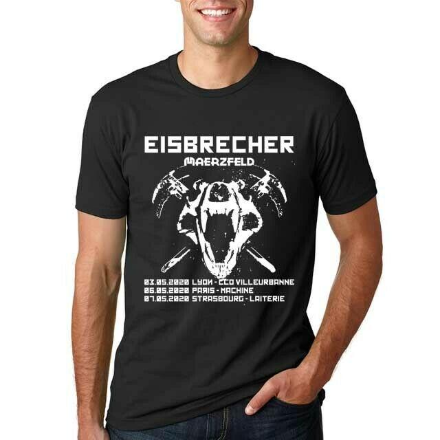 Eisbrecher Band Tour 2020 - Paris - Ile de France New Men T-Shirt Size S to 3XL