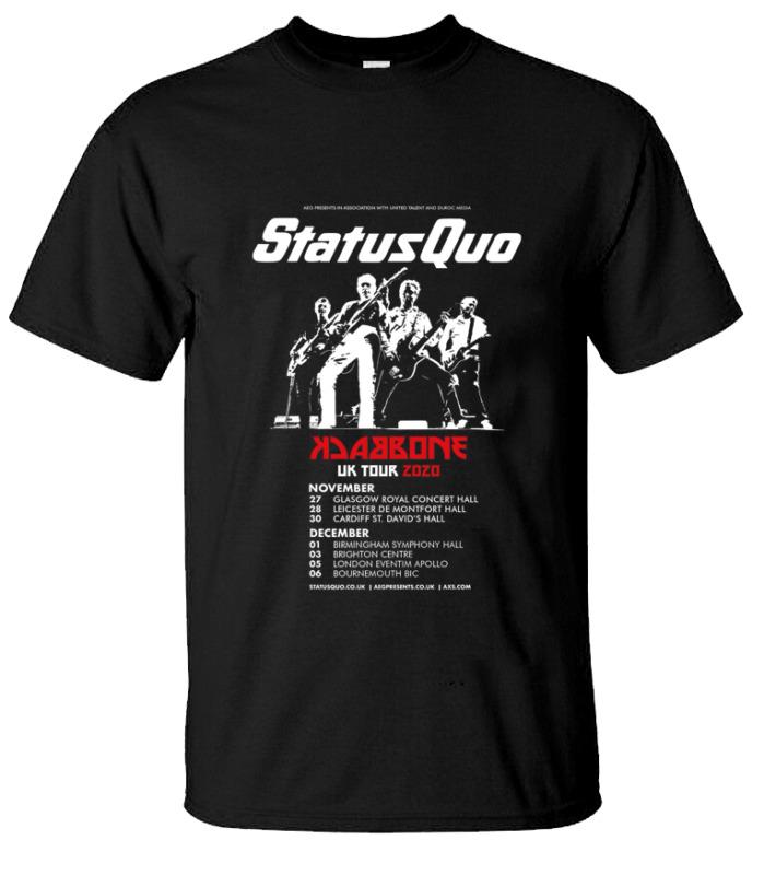 Hot !! Status Quo Tour Date 2020 X Back One Uk Tour Gildan T-Shirt