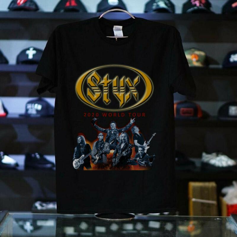 STYX 2020 World Tour GILDAN T Shirt BLACK AMERICAN USA ALL SIZE S - 5XL OK + OK