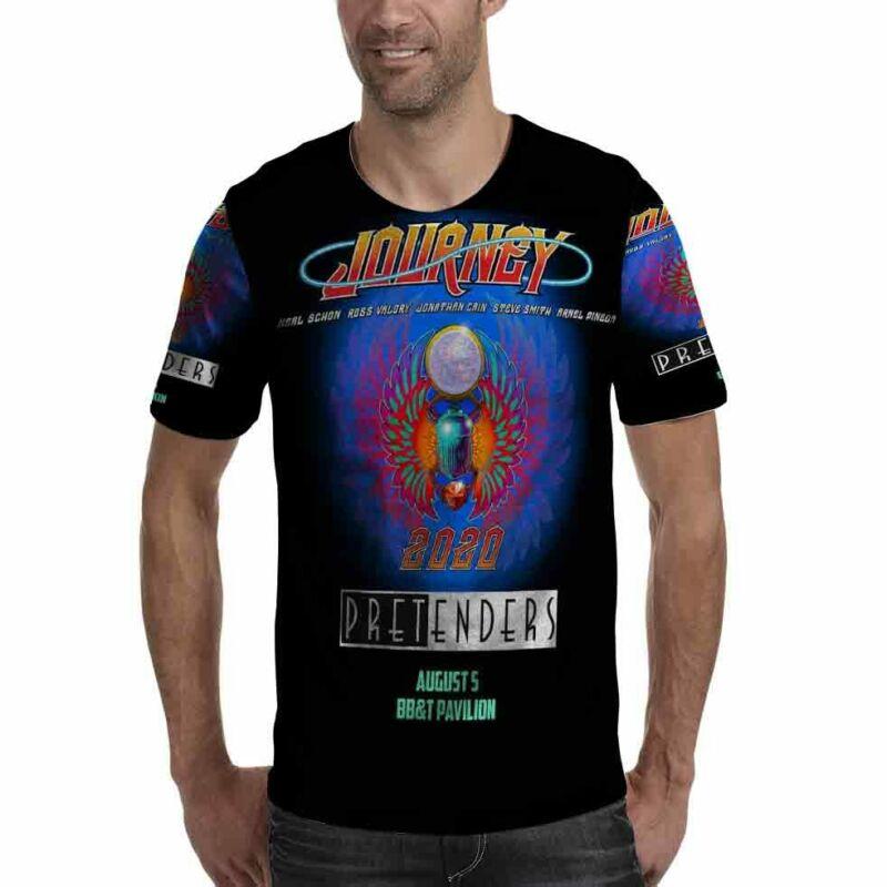 Journey Pretenders Tour 2020 Tshirt Fullprint Tee Polyester T-Shirt For Men