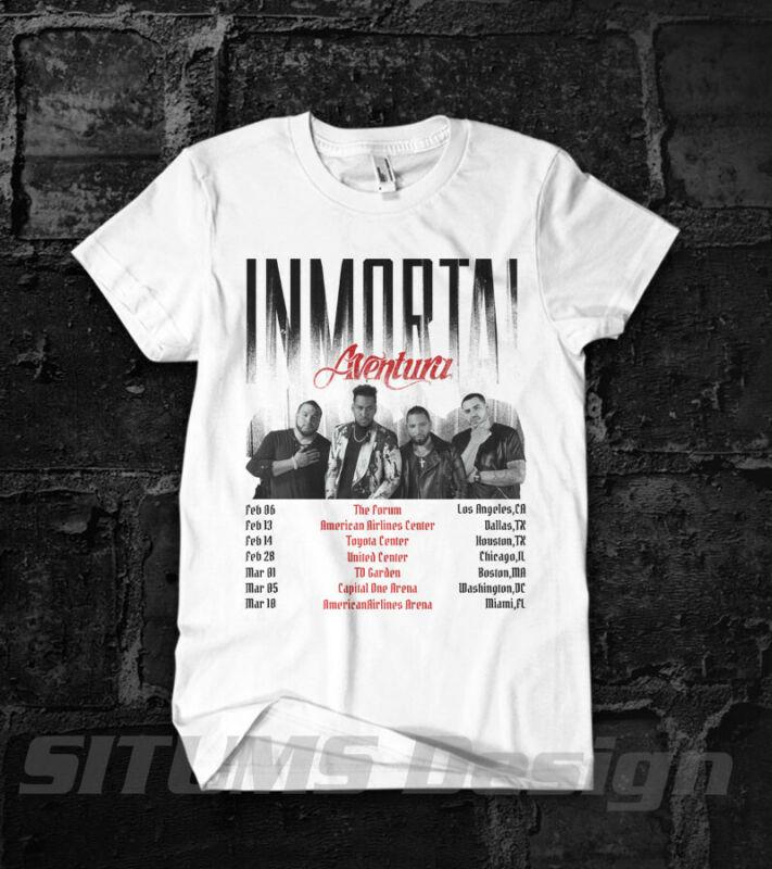 Aventura Inmortal 2020 Tour Tee Aventura T-Shirt Gildan NEW