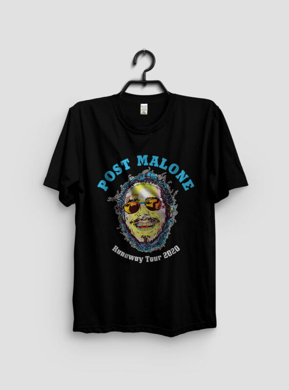 New POST MALONE Second Leg Runaway Tour 2020 T-shirt Size S to 3XL
