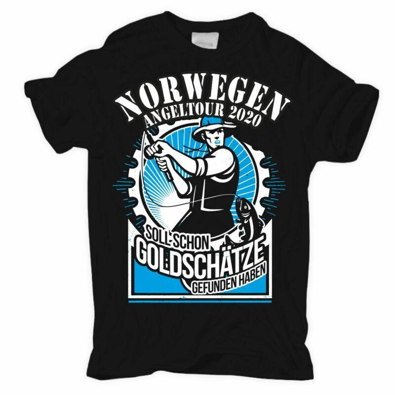 T-Shirt Norwegen Tour 2020 Goldsch?tze Angler Urlaub reise hochsee fischen angel