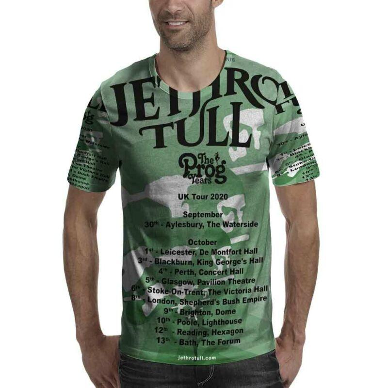 Jethro Tull The Prog Years UK Tour 2020 Tshirt Fullprint New T-Shirt For Mens