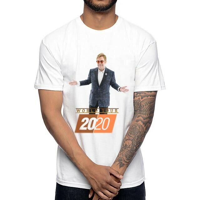 Elton John Tour 2020 Tshirt New Men T-Shirt Tee Size S to 3XL