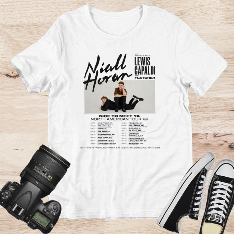 Niall Horan Nice To Meet Ya North American Tour 2020 White T-shirt Size S-3XL