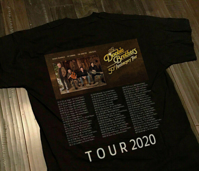Hot New The Doobie Brothers 50th Anniversary Tour 2020 T-Shirt USA Size