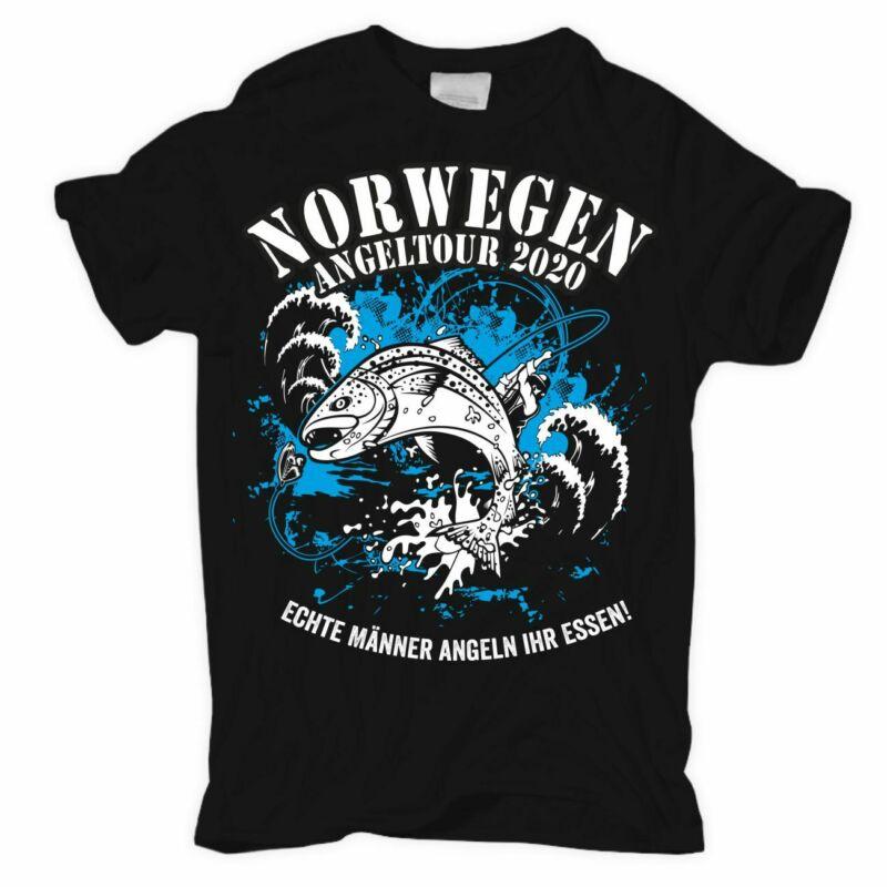 T-Shirt Norwegen Angeltour 2020 Echte M?nner Angler Urlaub reise hochsee fischen