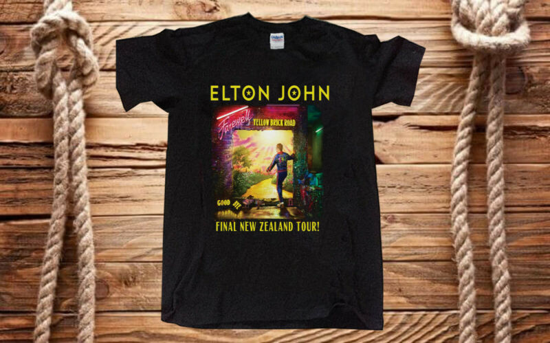 NEW Elton John 2020 Farewell Yellow Brick Road Concert New Zealand Tour t shirt