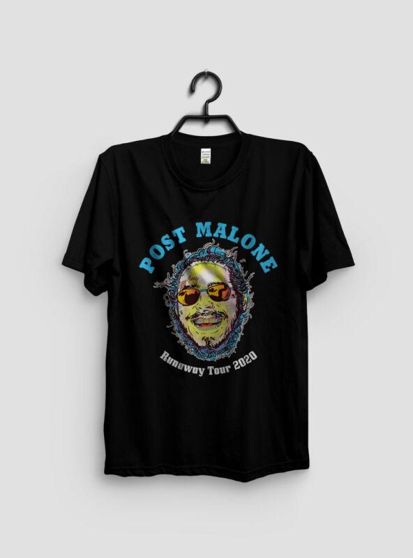 New Popular POST MALONE Second Leg Runaway Tour 2020 Black T-Shirt Size S to 3XL