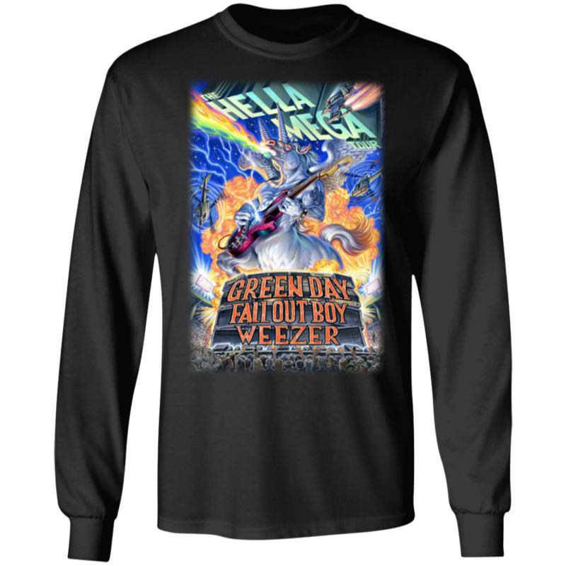 Hella Mega Tour Summer 2020 Green Day Fall Out Boy Weezer Announce LS T-Shirt