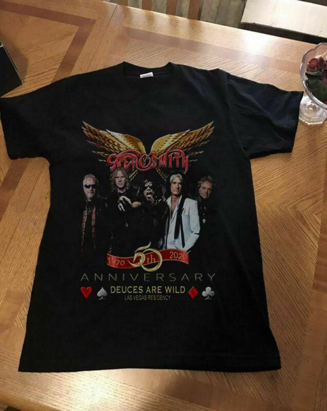 Aerosmith 50th Anniversary Las Vegas Residency Concert Tour 2020 Shirt Reprint
