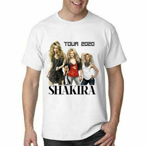 GILDAN Shakira 2020 Tour T shirt White Cotton Tee Men T-Shirt S~XXL