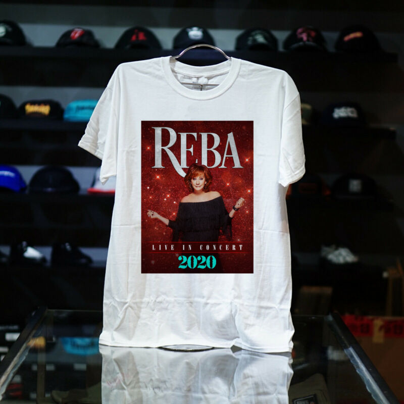 Reba McEntire T-Shirt Live In Concert 2020 Tour Dates WHITE USA ALL SIZE S-5XL##