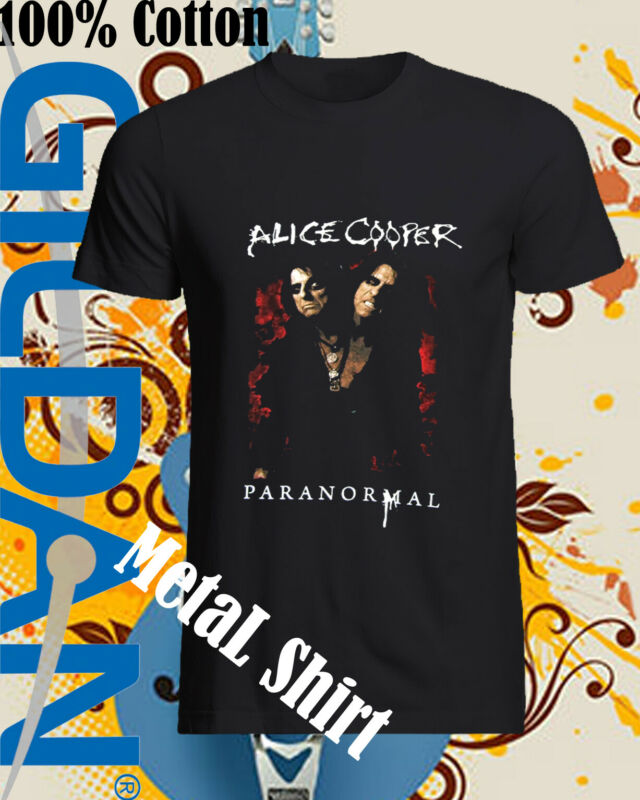 Alice Cooper Paranormal World Tour 2020 Black T Shirt New Official Merch Top Tee