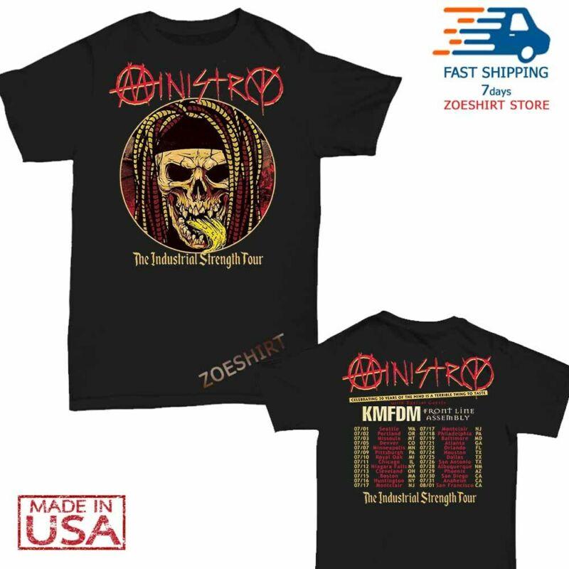 Ministry t Shirt Industrial Strength Tour 2020 T-Shirt Size M-2XL Men Black