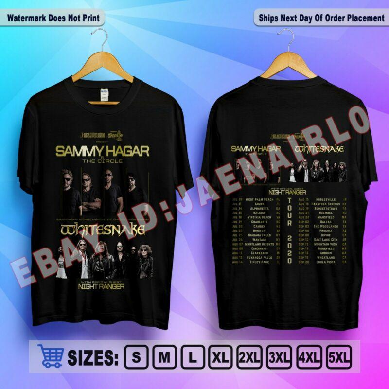 Sammy Hagar & The Circle with Whitesnake 2020 Tour T-Shirt S-3XL