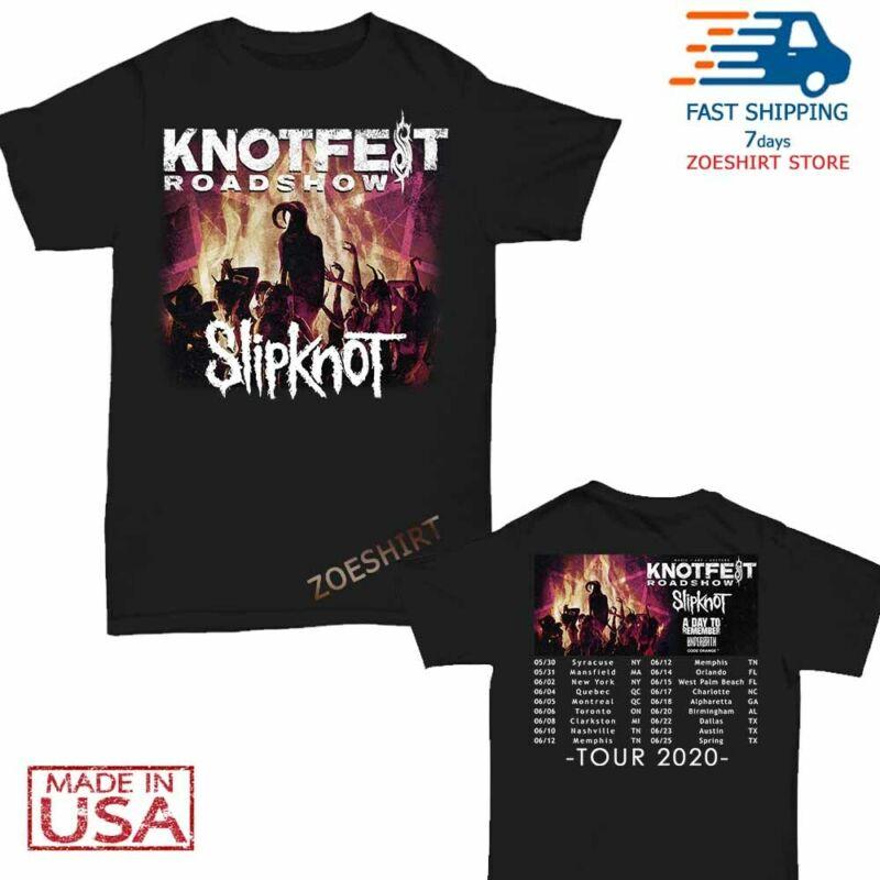 New Slipknot Shirt Knotfest Roadshow 2020 Tour T-Shirt Size Men Black M-2XL