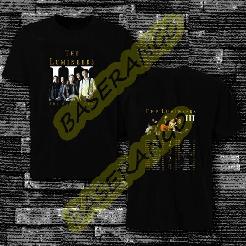THE LUMINEERS band TOUR 2019 2020 Concert Album Shirt Adult