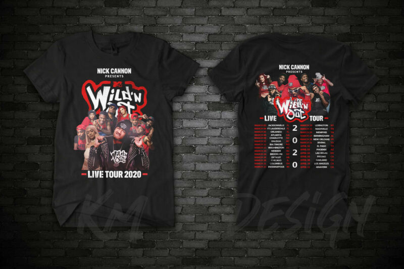 Wild ?N Out Live 2020 Nick Cannon Presents MTV US Tour Date T Shirt