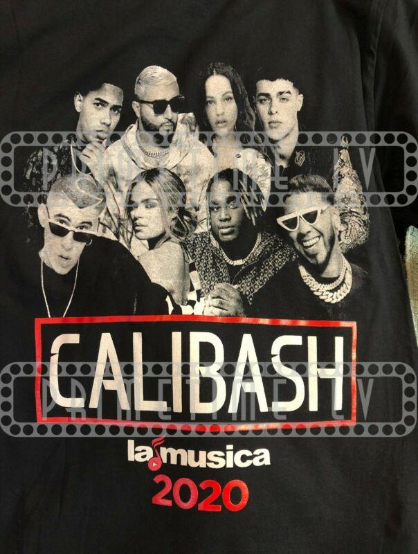 Calibash 2020 Bad Bunny Daddy Yankee Natti Natasha Anuel AA Tour T-Shirt Men New