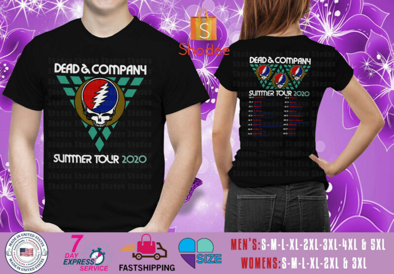 Dead & Company Summer Tour 2020 Black Mens Womens Tshirt