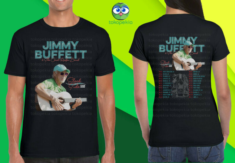 Jimmy Buffet & The Coral Reefer Band In Slack Tide Tour 2020 Black Mens Womens