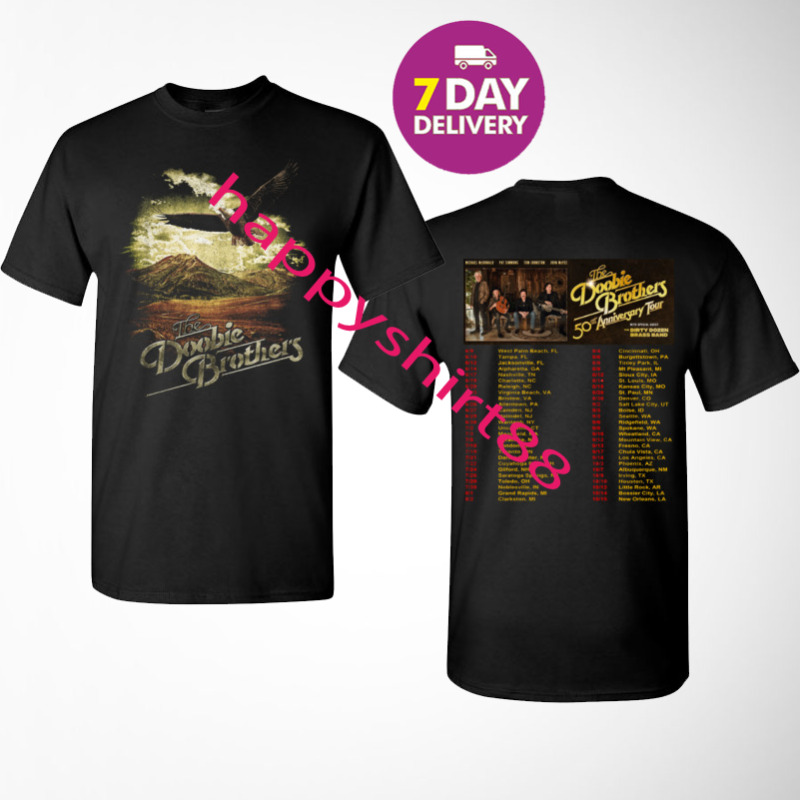 The Doobie Brothers Shirt 50th anniversary tour dates 2019-2020 T-Shirt Size Men